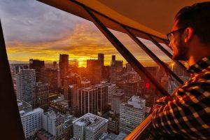 coucher de soleil lookout