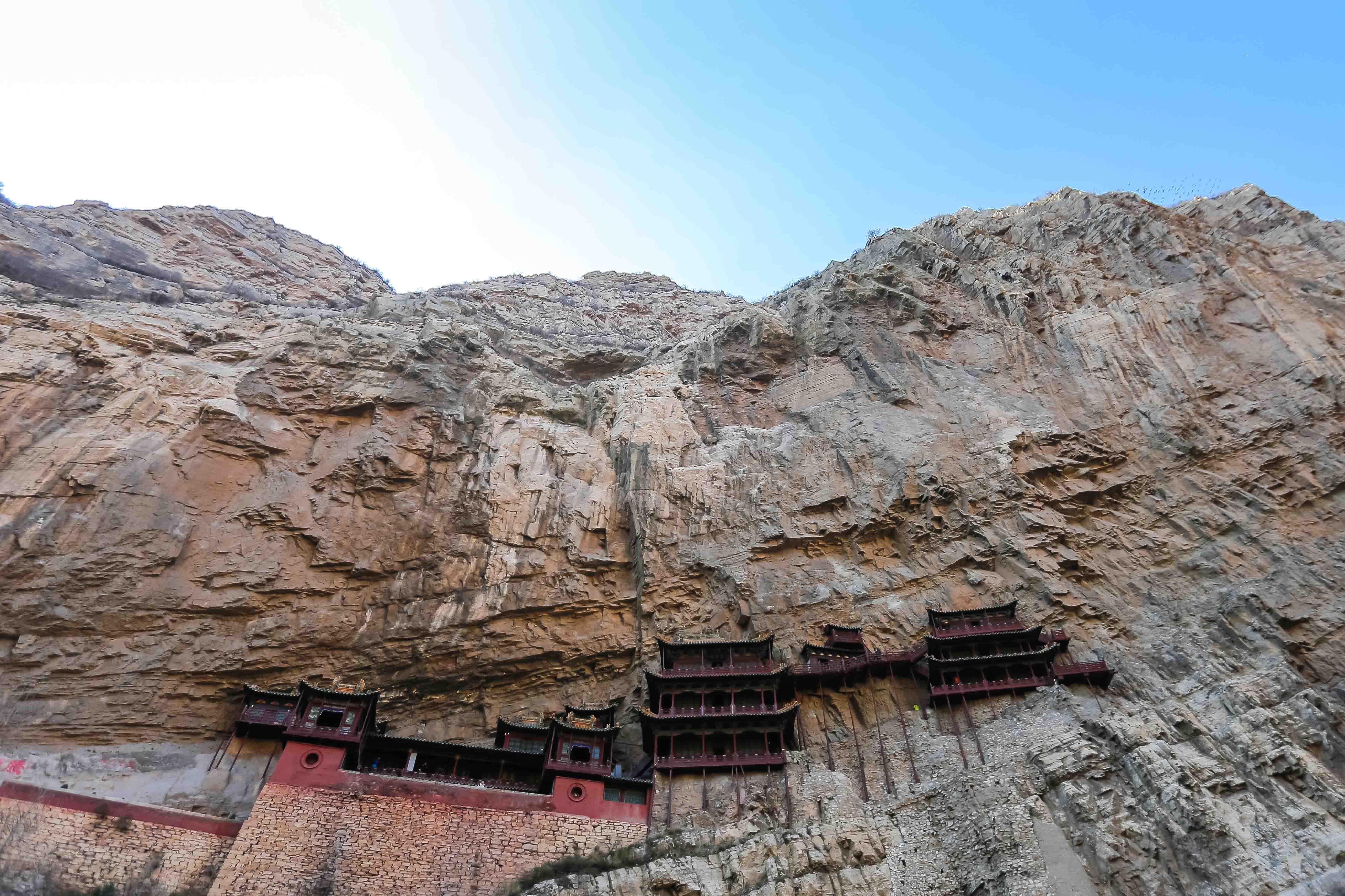 temple suspendu Xuankong chine