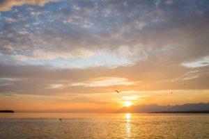 lever de soleil lac léman