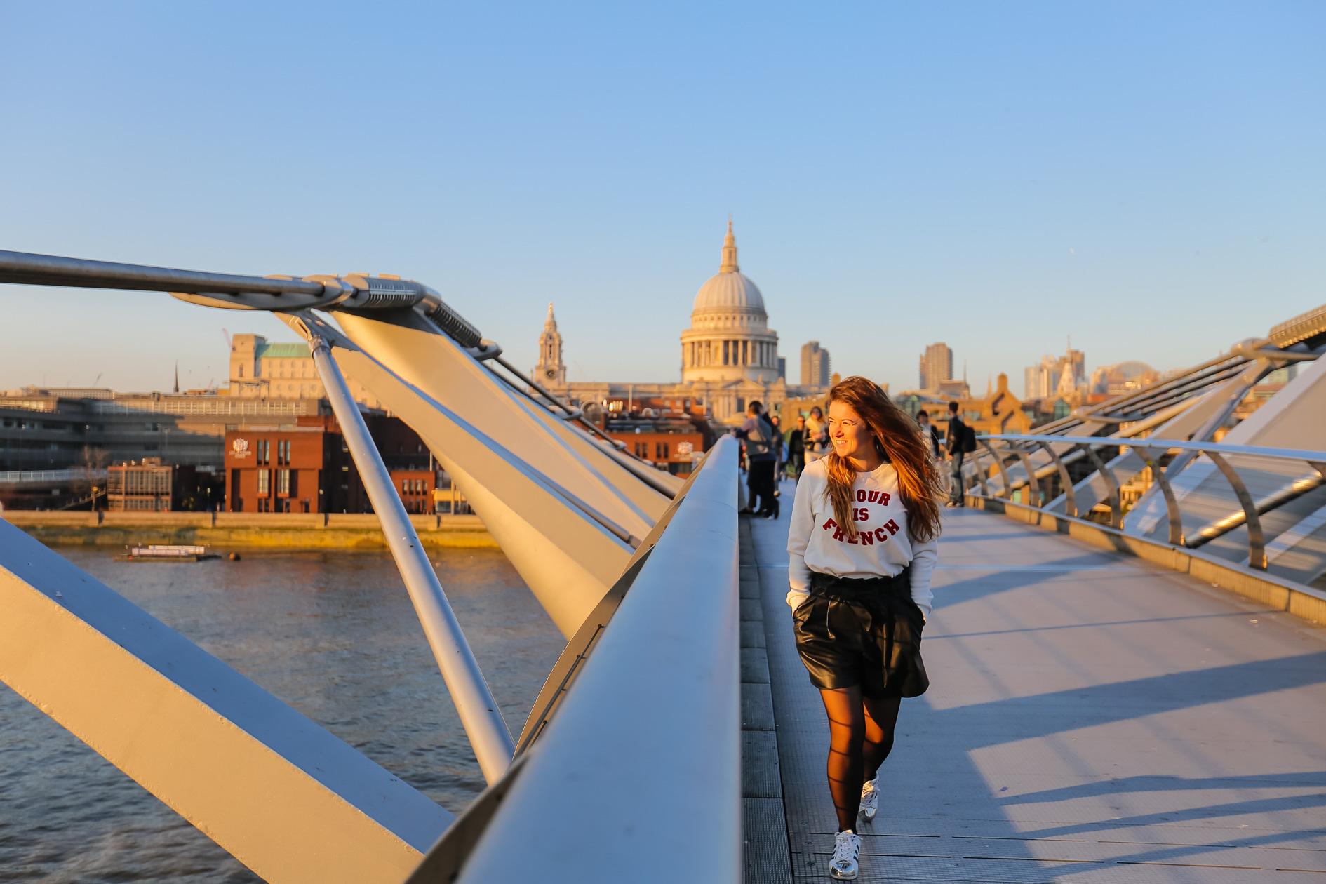 Visiter Londres en deux jours millenium bridge