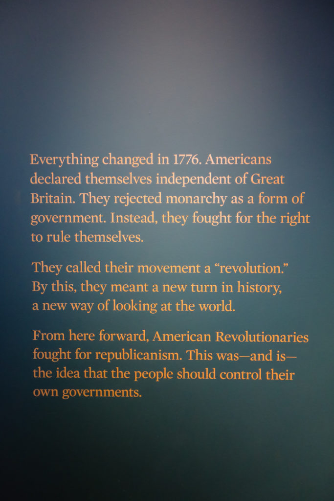 Philadelphie musée révolution américaine