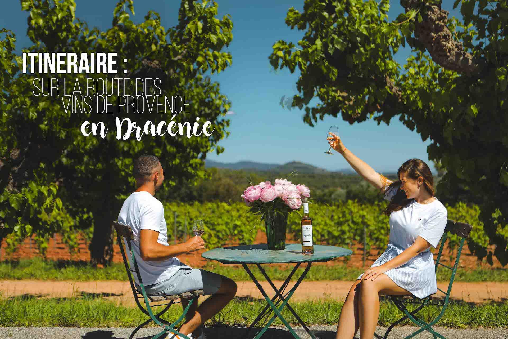 itinéraire sur la route des vins de provence en dracenie
